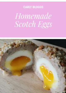 Homemade Scotch Eggs - the perfect picnic food! Can be made low syn for #SlimmingWorld and easily made #GlutenFree too!