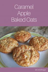 Caramel Apple Baked Oats