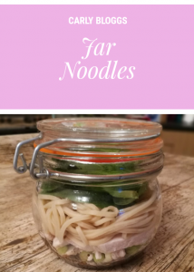 Jar Noodles - A Simple but tasty lunch recipe that works perfectly on any diet.
