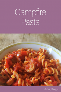 Campfire Pasta - a classic but reinvented