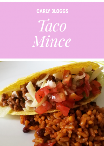 Taco Mince - the perfect filling