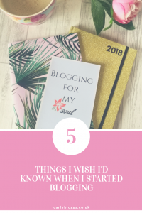 5 Things I Wish I'd Known When I Started Blogging