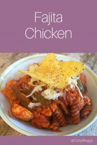 Fajita Chicken 2 Ways! Serve in wraps or as a pasta dish.