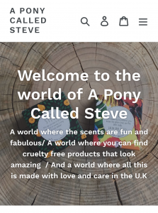 A Pony Called Steve Website