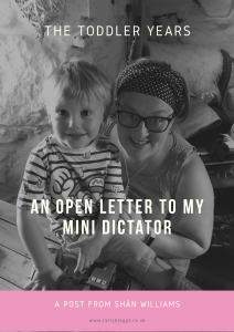 The Toddler Years Series - An Open Letter To MY Mini Dictator By Shan Williams