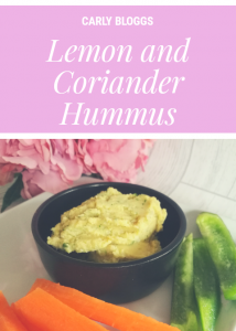 Healthier Lemon and Coriander Hummus