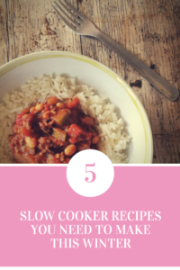 5 Slow Cooker Recipes. My favourite, healthy recipes.