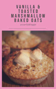 Vanilla & Toasted Marshmallow Baked Oats