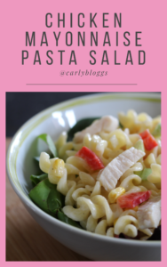 Chicken Mayonnaise Pasta Salad - the perfect recipe for any diet plan. #slimmingworld #weightwatchers #HDE #healthy