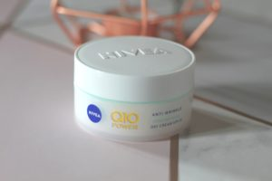 Skincare in your early 30's - A small white pot with Nivea on the lid and Q10 on the side