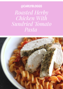 Roasted Herby Chicken With Sundried Tomato Pasta - Healthy and diet plan friendly. Low syn recipe on Slimming World  and easily GLuten Free