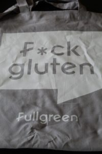The Allergy Free From Show - A grey tote bag with a white slogan saying F*ck Gluten