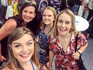 The Allergy Free From Show - A selfie of Carly and 3 other Instagrammers
