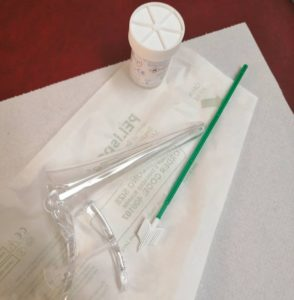 Cervical Screening - The items used for the screening test.
