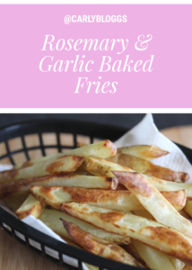 Rosemary and Garlic Baked Fries - A Slimming Essential recipe! #Slimming World #SynFree