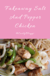 Fakeaway Salt And Pepper Chicken - Gluten Free, Dairy Free and a healthier recipe than your normal Chinese.