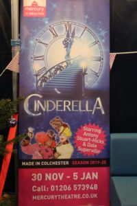 Cinderella at the Mercury Theatre Colchester - a poster featuring pictures of the Ugly Sisters