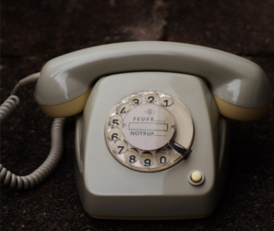 Remover negativity from your life - an old fashioned phone with the dial on the front.