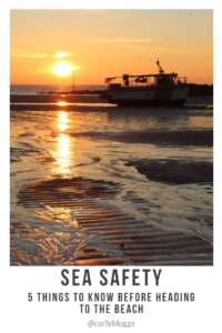 Sea Safety - With more people staying at home this year here's my top tips of how to stay safe at the beach.