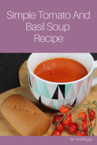 Simple Tomato and Basil Soup recipe - Slimming World friendly, syn free, gluten free, dairy free and vegan friendly.