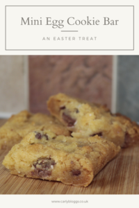 Mini Egg Cookie Bar - The ultimate Easter treat! Gluten free and can be made vegan if needed too!